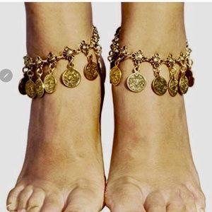 Jewelry - NEW Boho Coin Ankle Bracelet